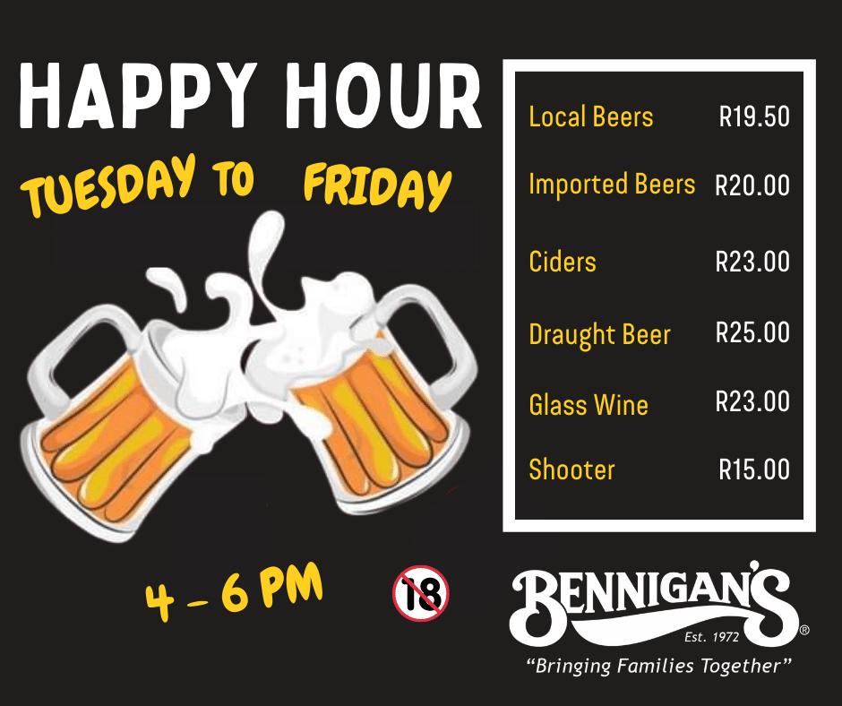 Bennigans Kensington _ Happy Hour V2