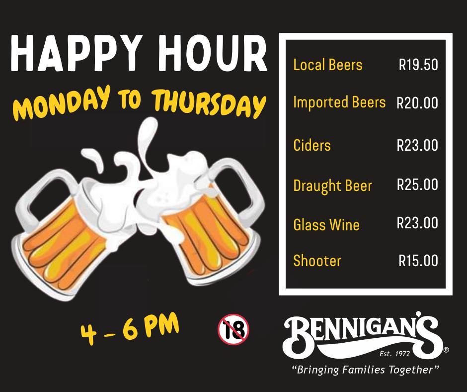 Bennigans Kensington _ Happy Hour